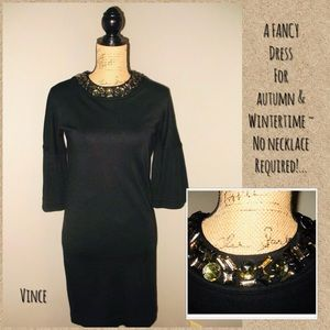 VINCE Misses Size S Black Wool Knit Dress